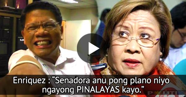 Image result for Mike Enriquez Shames De Lima On Live Television: 'Senadora, Ano Pong Plano Nyo Ngayong Pinalayas Kayo?'
