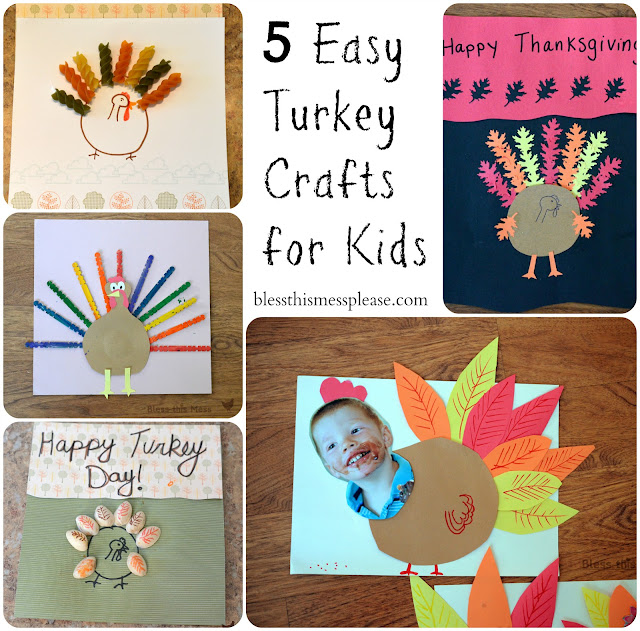 quick and easy thanksgiving craft ideas 5 easy turkey crafts for bless this mess 7888