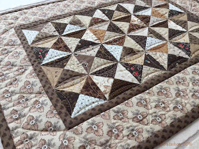 Brown Broken Dishes Doll Quilt