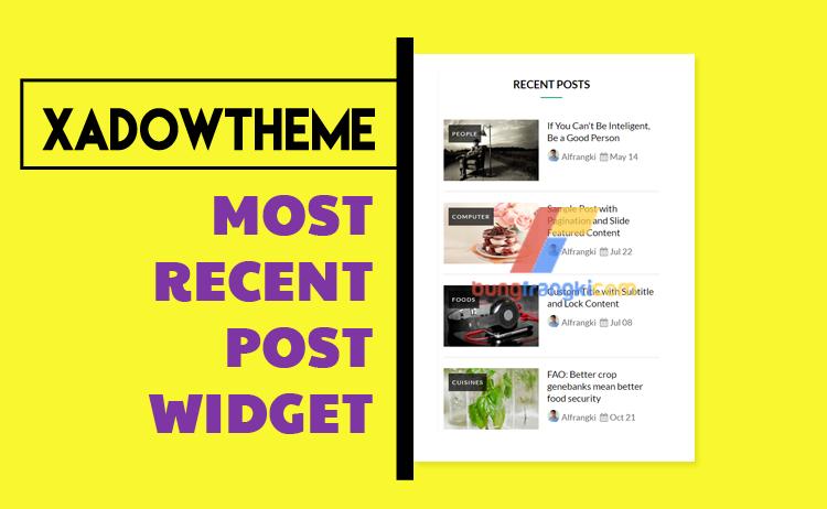 Cara Membuat Widget Recent Post Seperti Xadow Magz