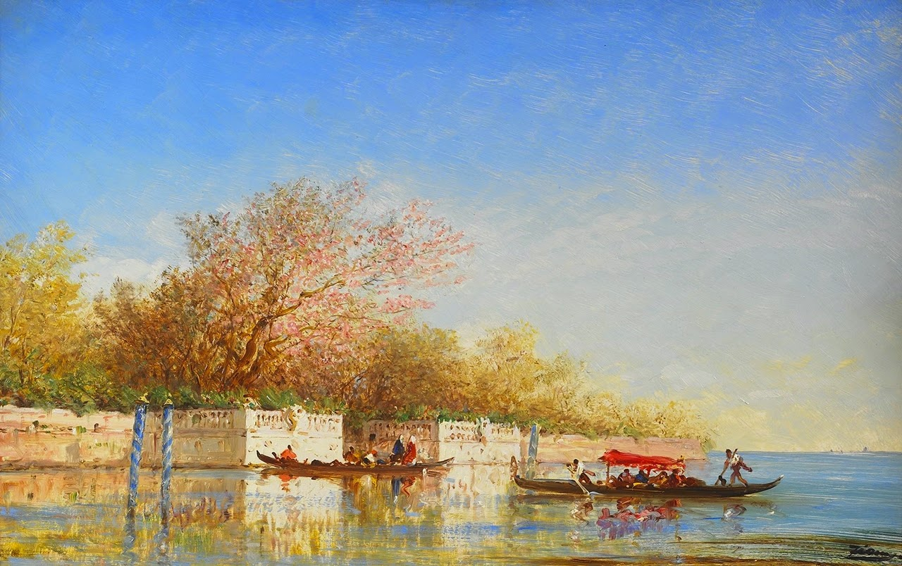 Felix ziem the barbizon school of painters tutt 39 art for Jardin francais