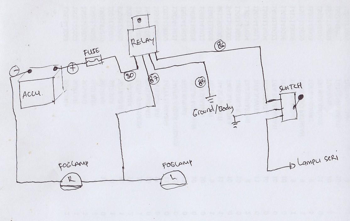 wiring diagram lampu seri