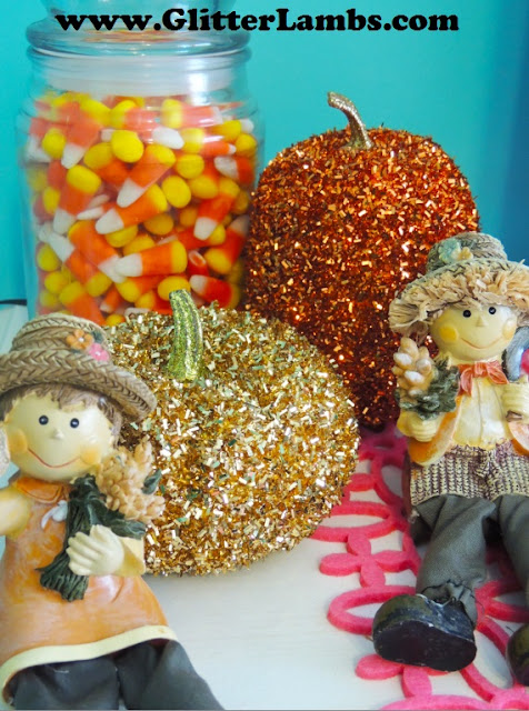 Fall Christmas Tree Decorations by Glitter Lambs
