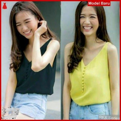 RFX167 MODEL BUTTON CAMISOLE KANCING HIDUP FIT TO L MURAH ONLINE