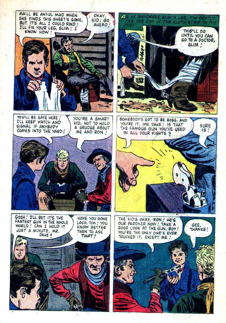 The Rifleman v1 #3 dell tv western comic book page art by Alex Toth