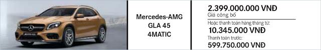 Giá xe Mercedes AMG GLA 45 4MATIC hấp dẫn tuyệt vời