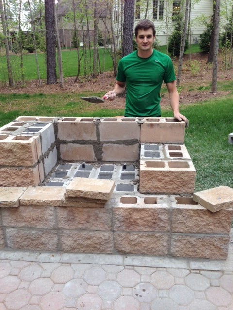 Life in the Barbie Dream House: DIY Paver Patio and ... on Diy Outdoor Fire id=23079