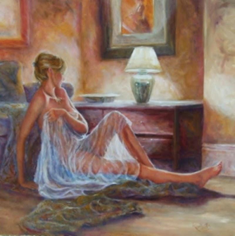 D.W.C. Soft Woman Portrait - Painter Karen Wallis