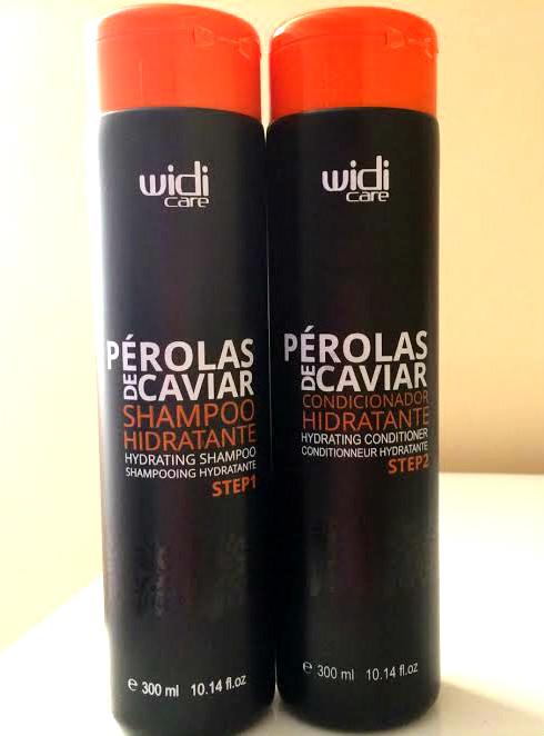 shampoo e condicionador perolas de caviar widicare