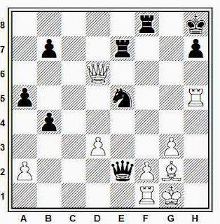 Posición de la partida de ajedrez Sapi - Ribli (Hungría, 1970)
