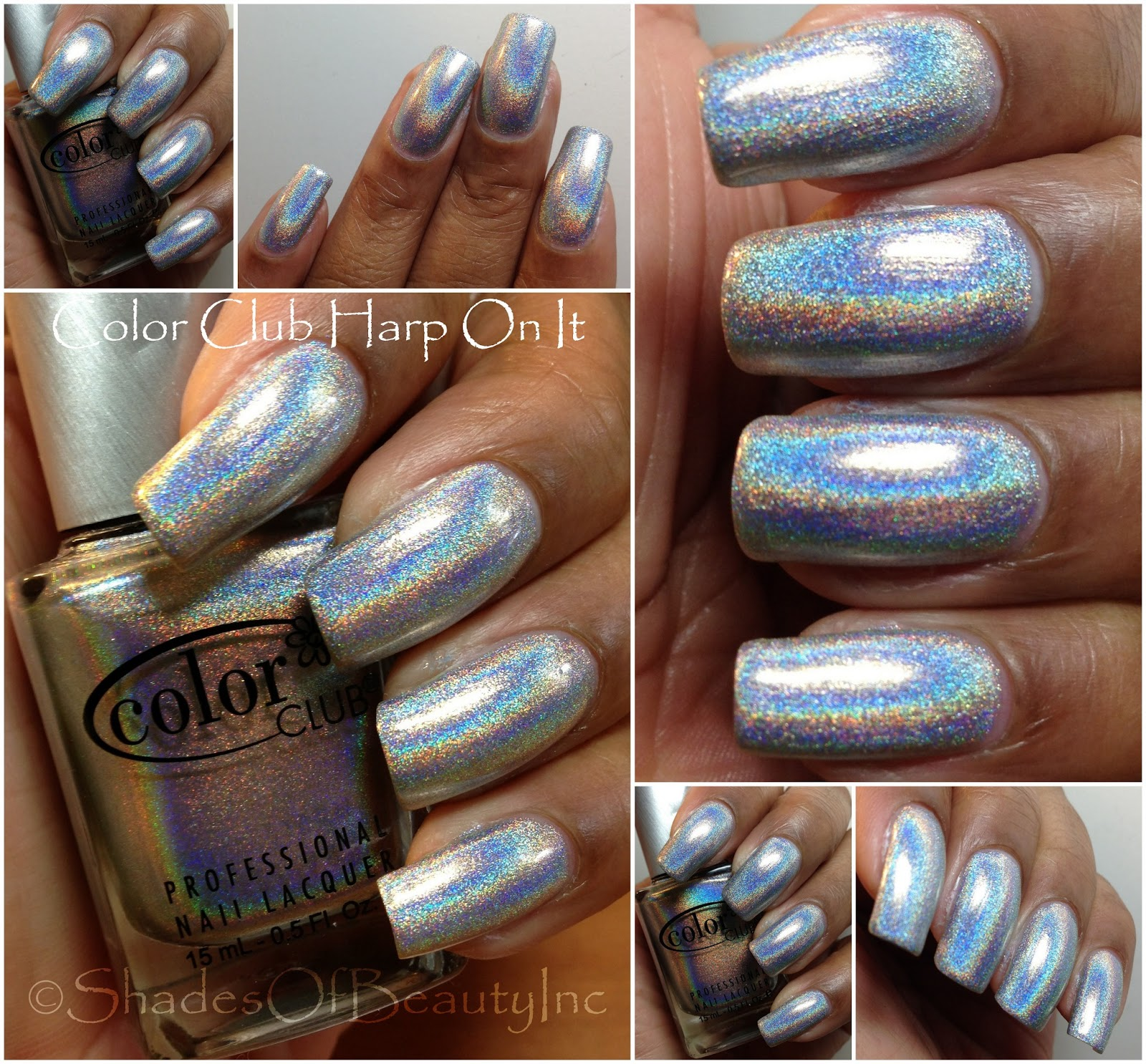 Color Club Holographic Nail Polish Swatches: Shades Of Beauty, Inc.: Host Of Holos: Color Club 2012