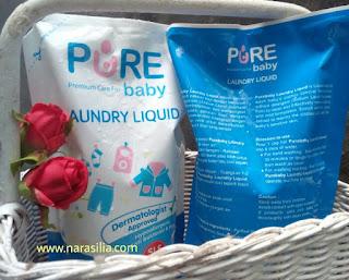 [Review] Mencuci Baju Si Kecil Dengan PureBaby Laundry Liquid