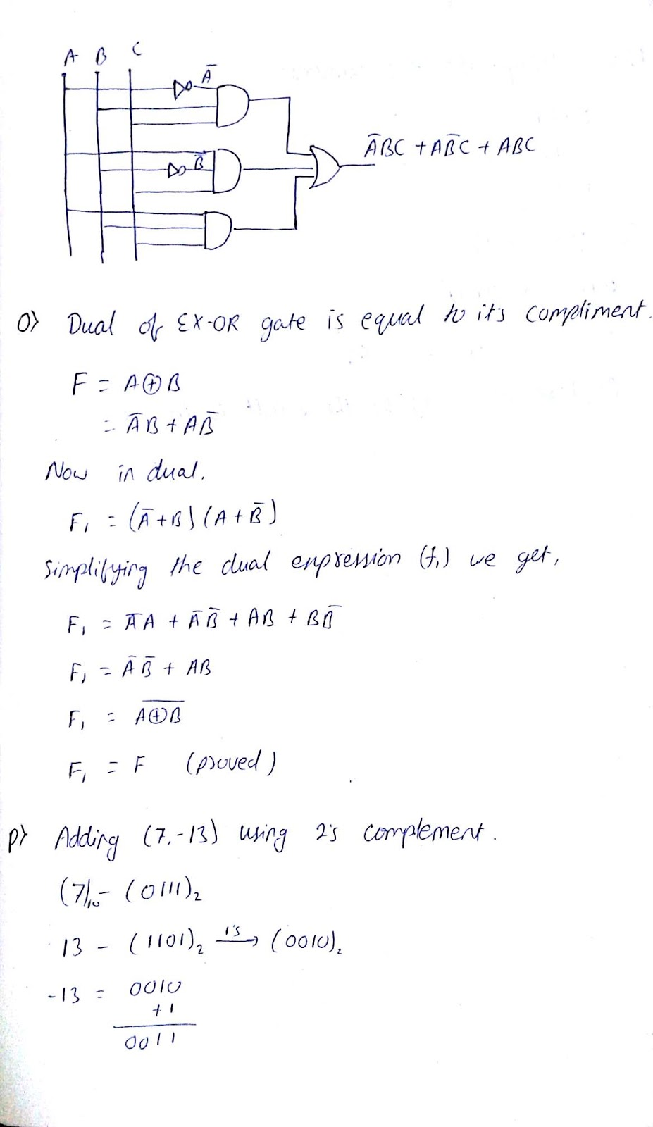 Dec Question Batch 15 19 For Eeeee Module 12 By Prof Biswa Sir Simplification Of Full Adder M Right Ans