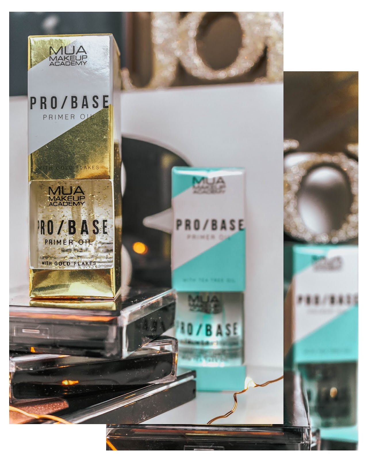 MUA Pro Base Primer Oil Gold Flakes Blog Review
