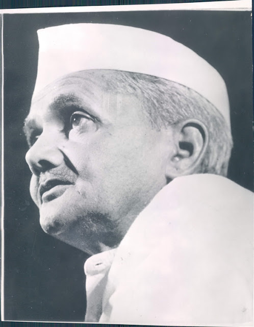 Lal Bahadur Shastri Second Prime Minister of India  Press Photographs from 1960s  Old Indian