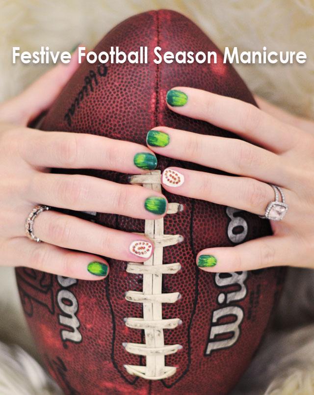 Cute Football Season Nails