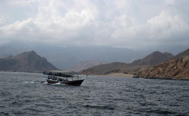 Navegando por el golfo de Omán