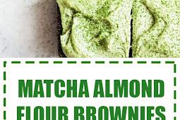 Matcha Almond Flour Brownies