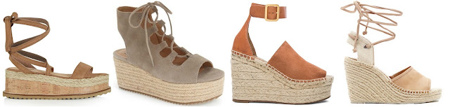 One of these pairs of espadrille wedges is from Chloe for $625 and the other three are under $100. Can you guess which one is the designer pair? Click the links below to see if you are correct!