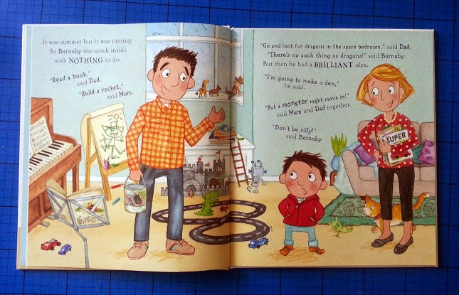 A Monster's Moved In! children's book review age 3-7 inside illustration