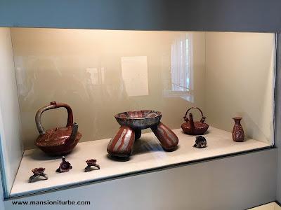 Utensilios de cerámica policromada prehispánicos