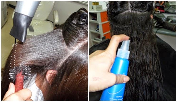 desrizando el cabello