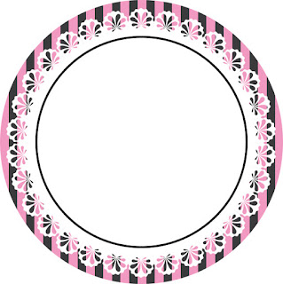 Toppers o Etiquetas para Imprimir Gratis de Cocinando Retro en Rosa.