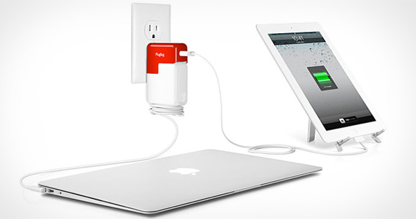 Plug Bug Dual Charger for MacBook and iPad, iPhone, or iPod