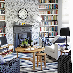 living decorating fireplace decor designs cod cape rooms cottage colors beach bookshelf inspired grey wall gray books cozy theme livingroom
