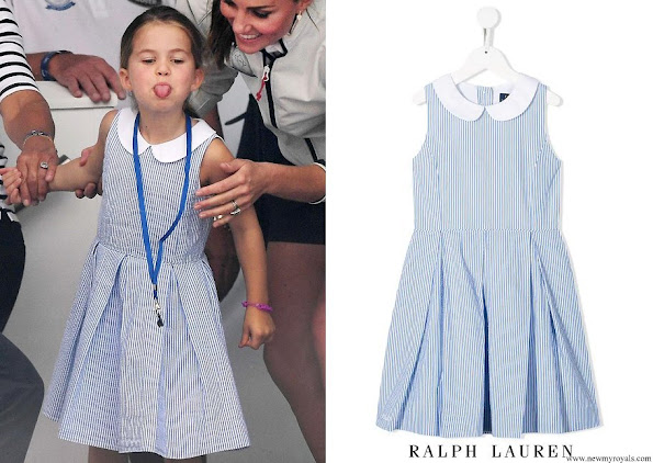 Princess Charlotte wore RALPH LAUREN KIDS striped sleeveless dress