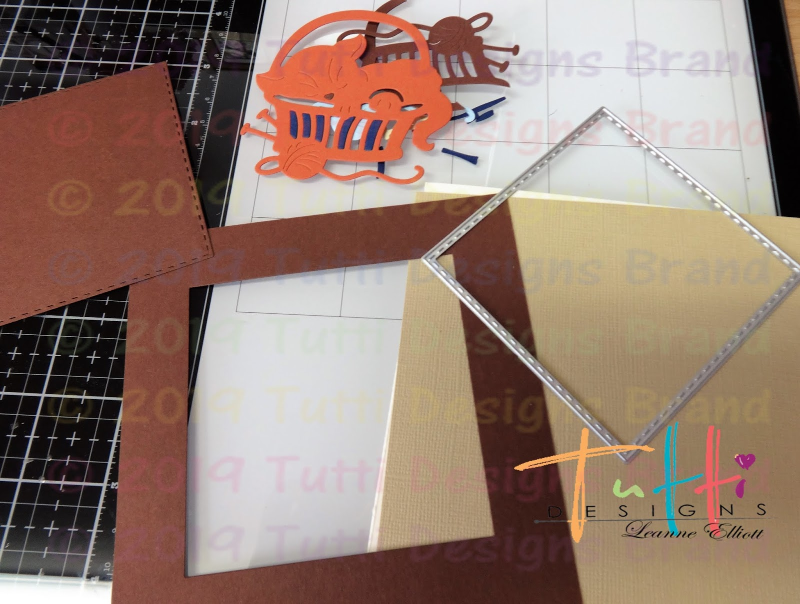 Tutti Designs Cutting Dies TUTTI-494 Cat in Basket