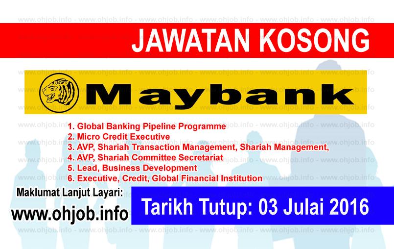 Jawatan Kerja Kosong Maybank logo www.ohjob.info julai 2016