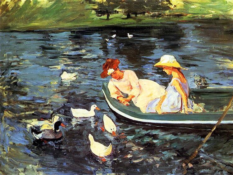 ruhe, frieden, disziplin, stärke, der vater, familie, Mary Cassatt, painting, malerei, poetische Art, natur, see
