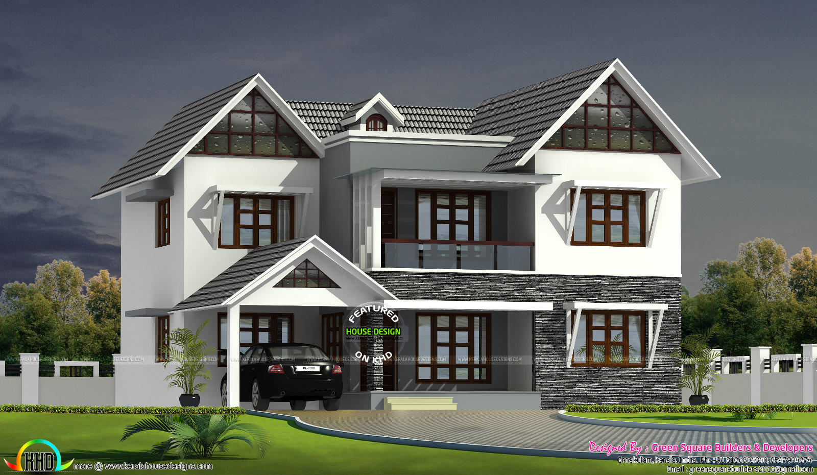 Shingles Roof Colonial Touch Home Kerala Home Design Bloglovin - Colonial style home design in kerala