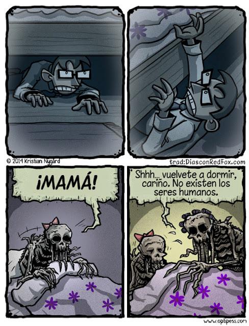 Meme de humor sobre miedos infantiles