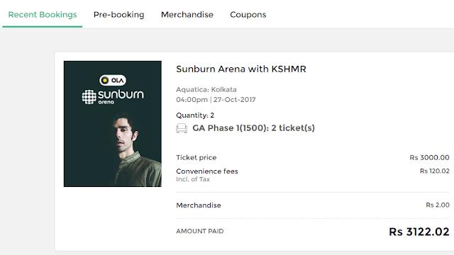 Sunburn Ticket From Bookmyshow