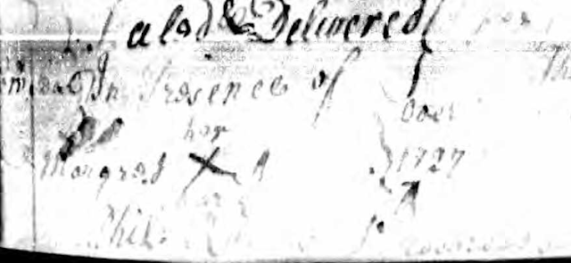 1727 Sussex DE Deed with Margaret Adams signature mark