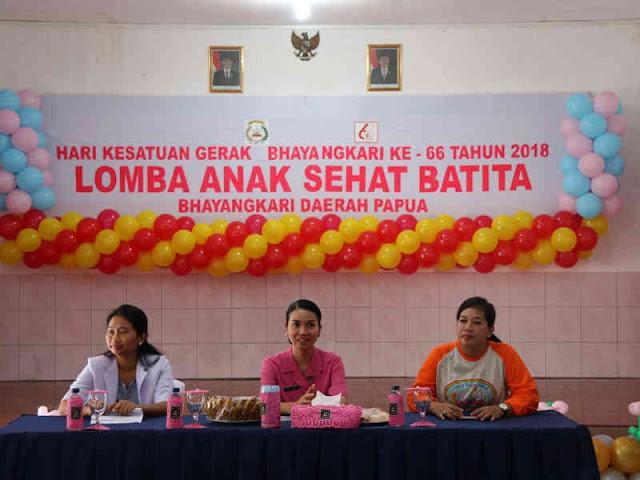 Sambut HKGB ke 66, Bhayangkari Papua Selenggarakan Lomba Anak Sehat