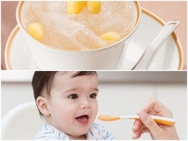 Cách chế biến tổ yến chưng đường phèn cho bé
