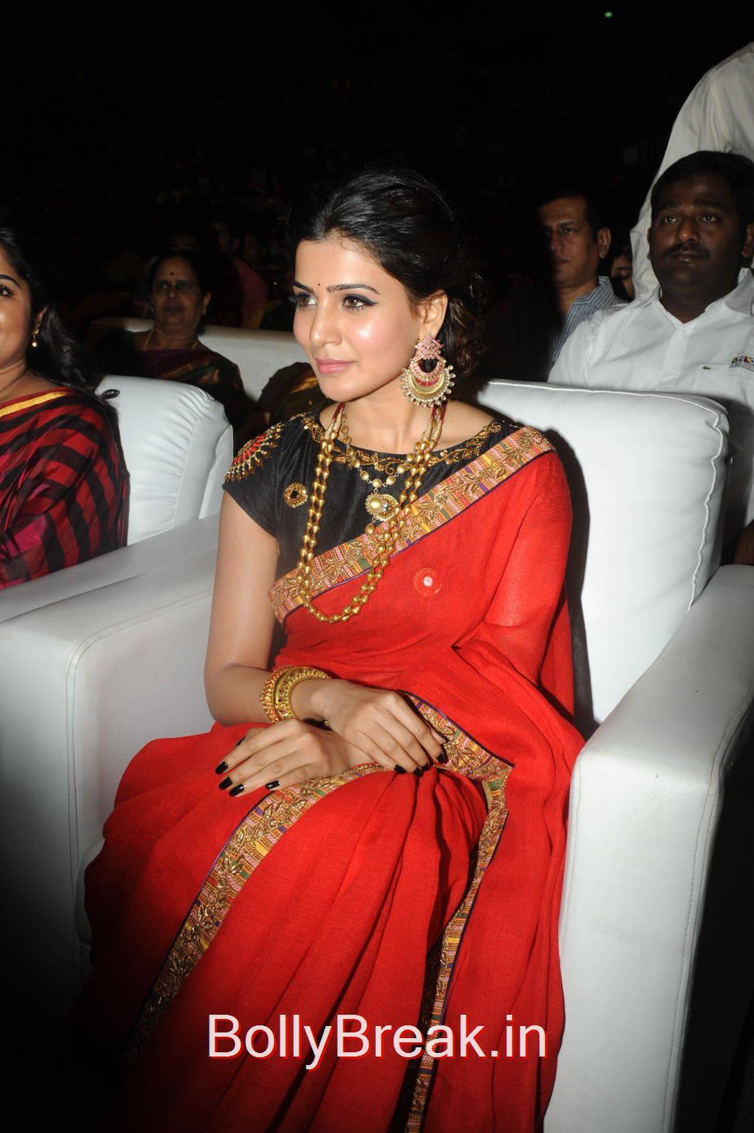 Samantha Pics At Son Of Satyamurthy Movie Music Launch, Samantha Hot ...