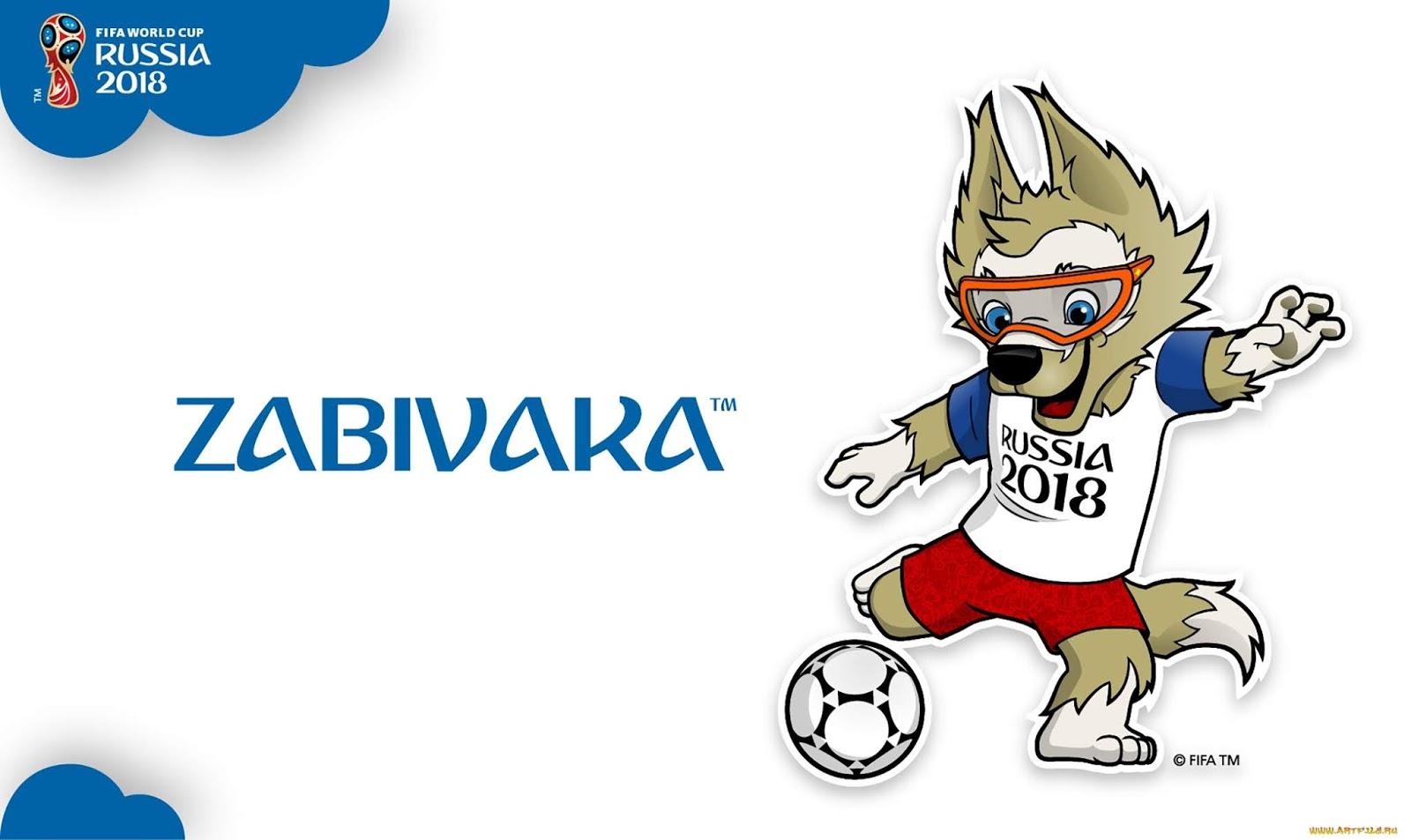 Mascota Mundial de futbol Rusia 2018 Zabivaka. El lobo Zabivaka.