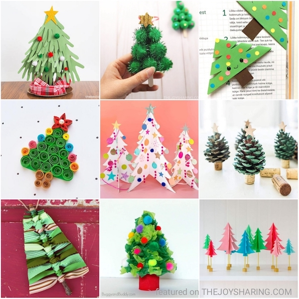 20 Christmas Tree Crafts For Kids The Joy Of Sharing