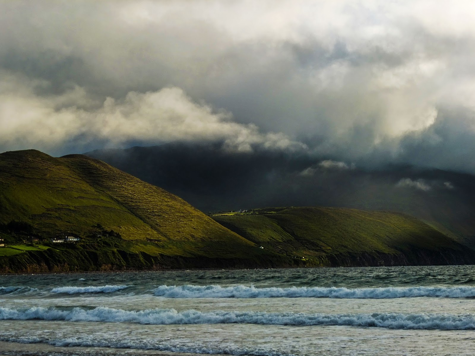 Clouds over the Curra Hill from Rossbeigh Beach, Co.Kerry.