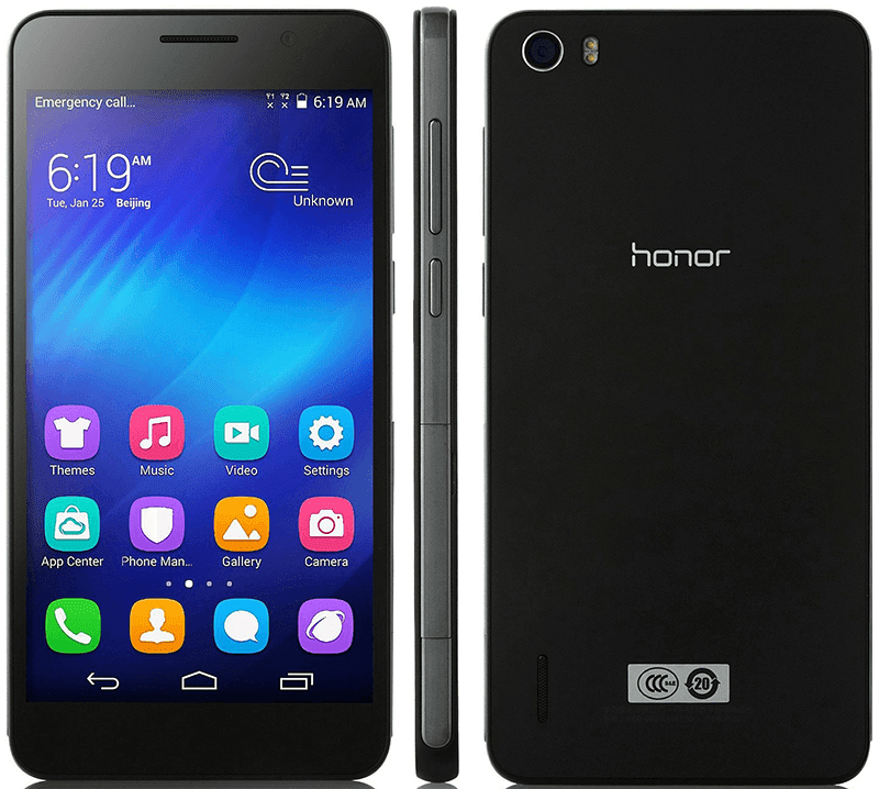 Huawei Honor 6 in black