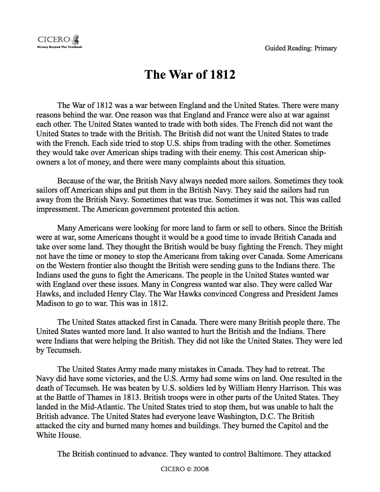 Dbq Essay War