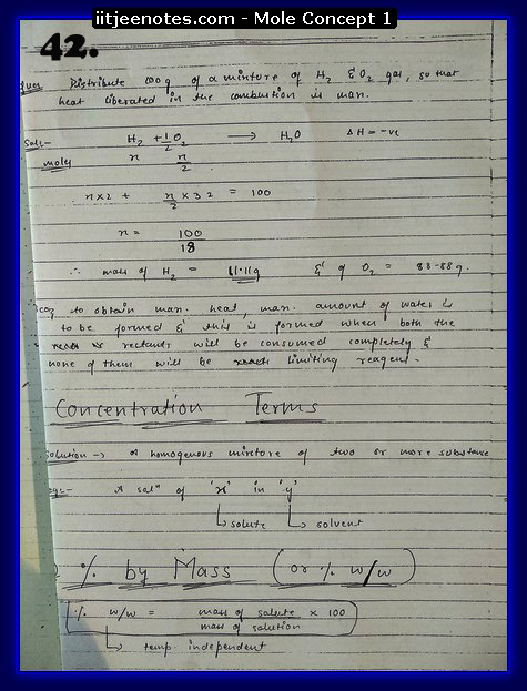 Mole Concept Notes IITJEE10