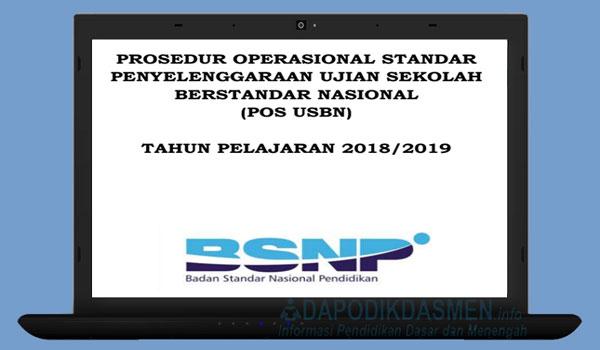 Download POS USBN SD SMP SMA SMK Tahun 2019, Unduh POS USBN SD SMP SMA SMK Tahun Pelajaran 2018/2019