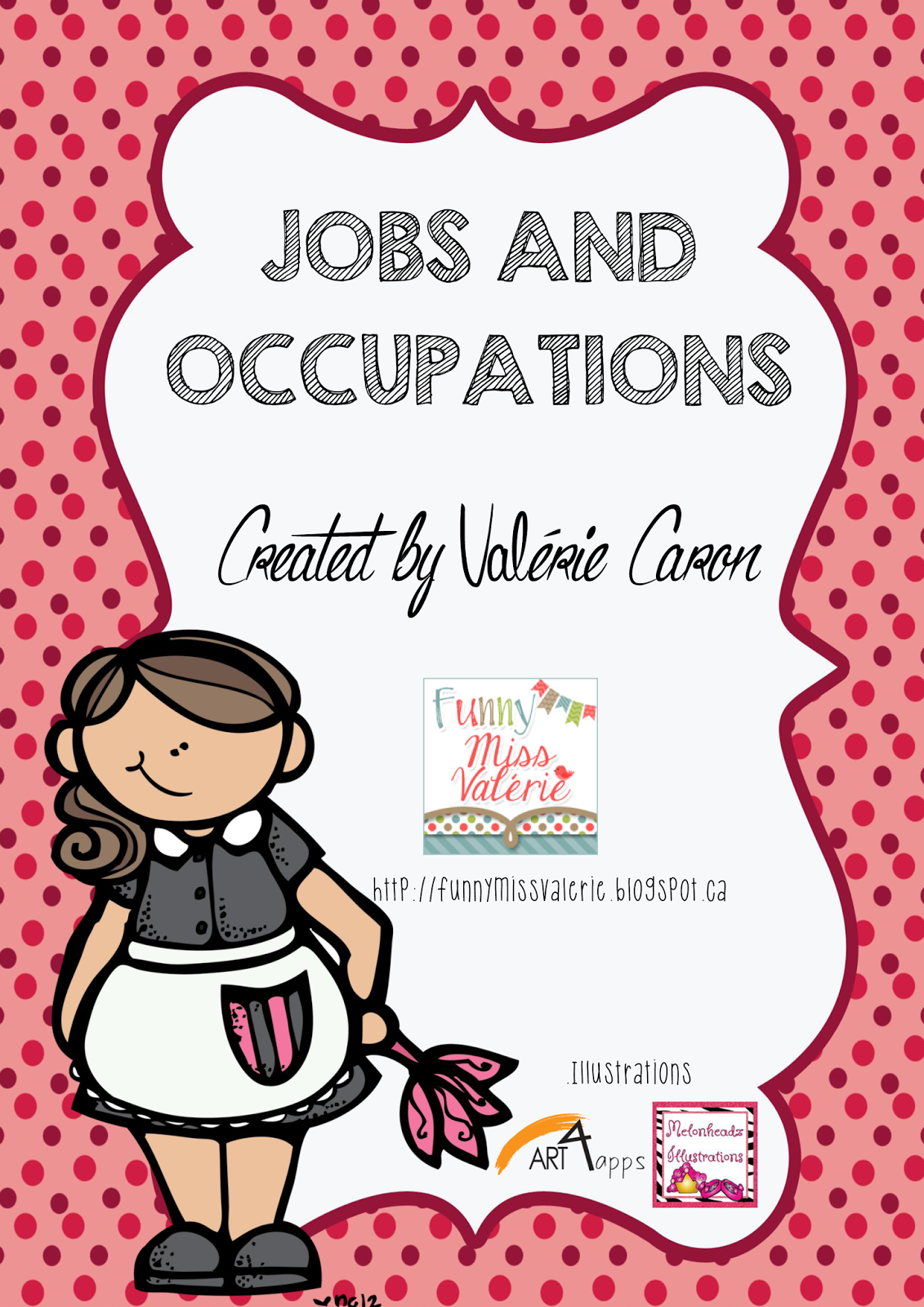 funny miss val eacute rie jobs and occupations teacherspayteachers com product jobs and