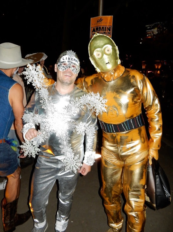 Liberal Snowflake C3PO costumes West Hollywood Halloween