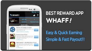 Ganar dinero con la App móvil de Whaff Rewards